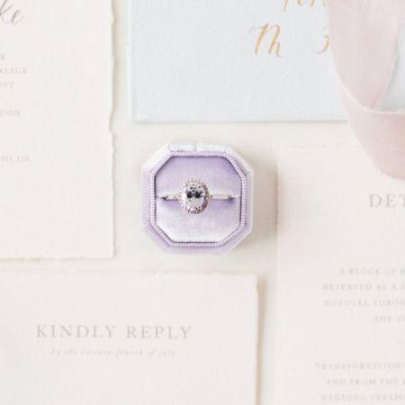 Purple velvet ring box by LaceByrd on Etsy!    http://liketk.it/3k14x @liketoknow.it #liketkit #LTKwedding #LTKunder50 #LTKstyletip