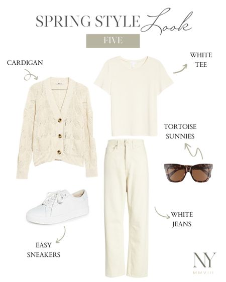 An all white spring outfit in honor of Diane Keaton in something's gotta give. Love this for memorial day too if you're somewhere with cooler evenings! http://liketk.it/2O02R #liketkit @liketoknow.it #LTKstyletip #LTKspring #LTKunder100 natalie yerger, white outfit, white jeans, spring cardigan
