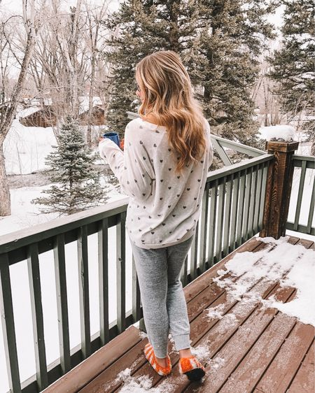 may your coffee be strong and your Monday be short ☕️ I swear it's way colder in Oklahoma than it was in the mountains and I'm not ok with it!  . . coziest PJs EVER 👉🏼 http://liketk.it/2Ah3s @liketoknow.it #liketkit #LTKunder50