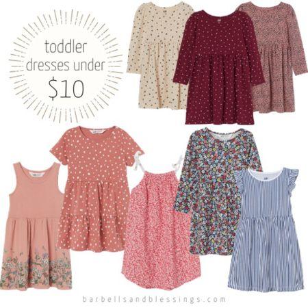 Toddler girl #dresses under $10!!    #LTKkids #LTKunder50 #LTKfamily