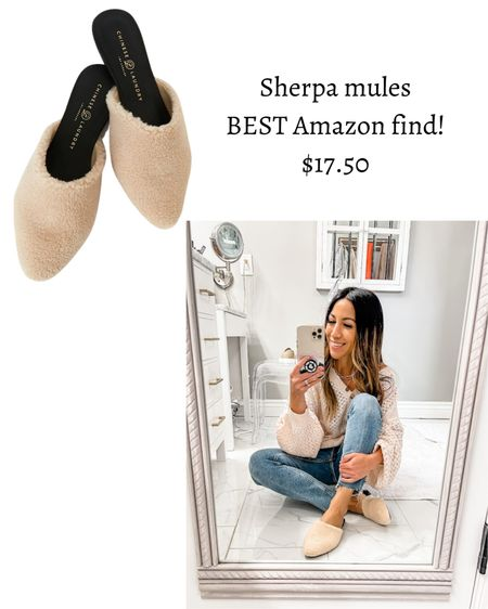 Amazon fashion, Sherpa mules   #LTKunder50 #LTKsalealert #LTKshoecrush
