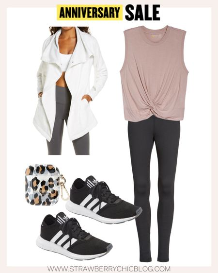 This wrap jacket is great to throw on when the weather gets cooler and your headed to the gym.   #LTKfit #LTKsalealert