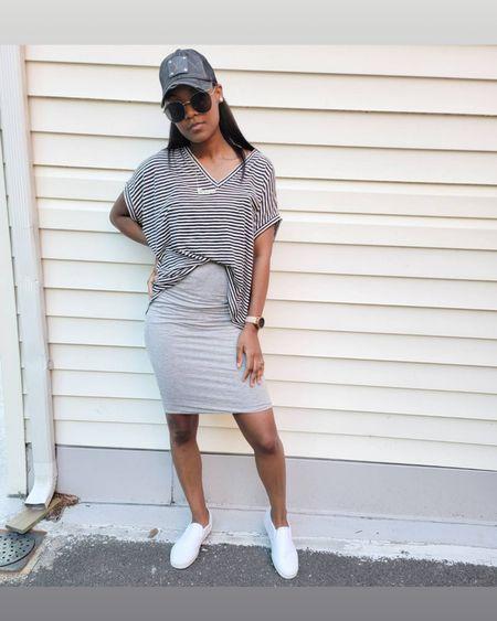 Love a good pair of slip on sneakers.  Skirt and sneaker outfit. Quay sunglasses http://liketk.it/3hUMM #LTKsalealert #LTKstyletip #LTKunder50 #LTKDay #LTKshoecrush #LTKworkwear #LTKtravel #LTKunder100 #LTKfit @liketoknow.it #liketkit