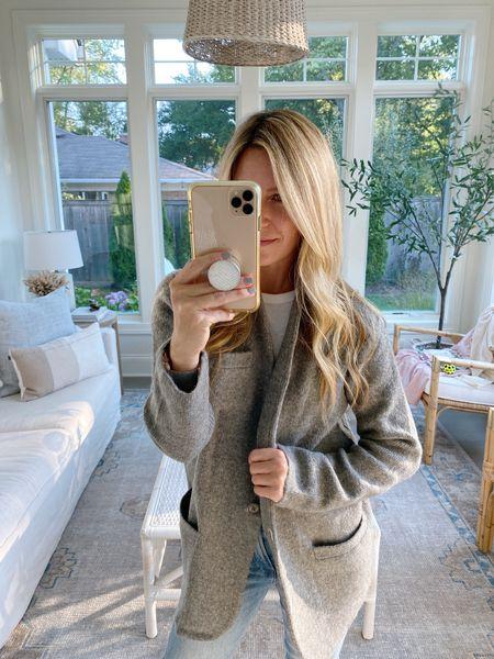 Loving this cute new sweater blazer!! Super cozy for fall! Wearing an xsmall!   #LTKSeasonal