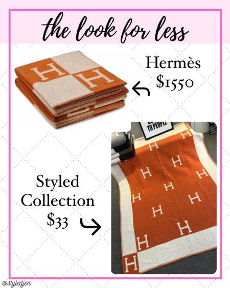 Styled collection Hermès dupe blanket     #LTKhome #LTKunder100 #LTKsalealert