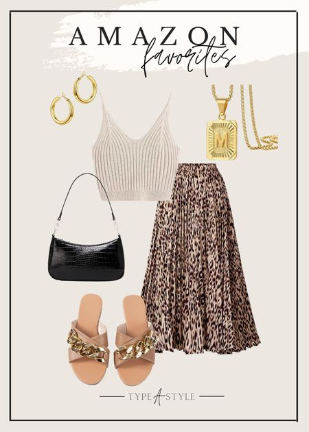 Amazon favorites - leopard skirt and accessories
