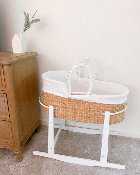 Sweet little baby bassinet! http://liketk.it/3hbNi #liketkit @liketoknow.it  Moses bassinet // baby gear // newborn bassinet #LTKbaby