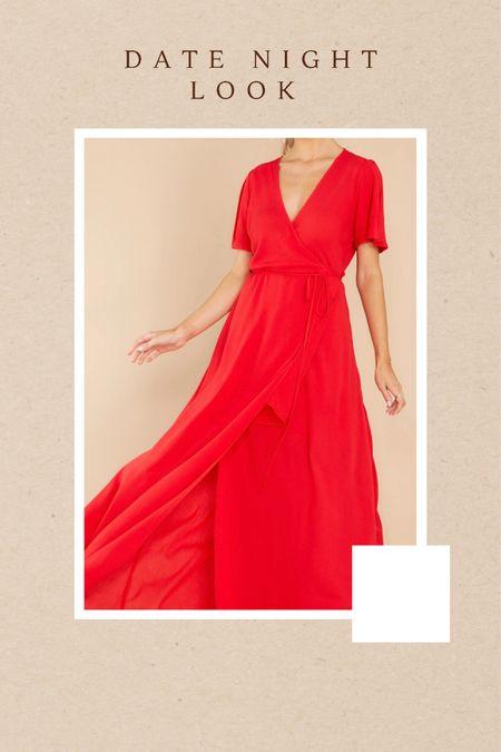 Red Dress date night look, red maxi dress http://liketk.it/3hKfu #liketkit @liketoknow.it #LTKunder100 #LTKwedding #LTKfit