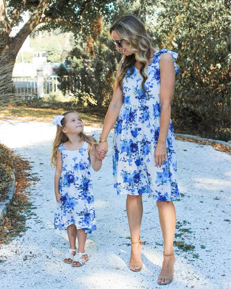 No Monday morning blues over here - Kay blue and white dresses! Have a great week, friends! http://liketk.it/3h1aO @liketoknow.it @liketoknow.it.family #liketkit #LTKunder50 #LTKkids #LTKfamily