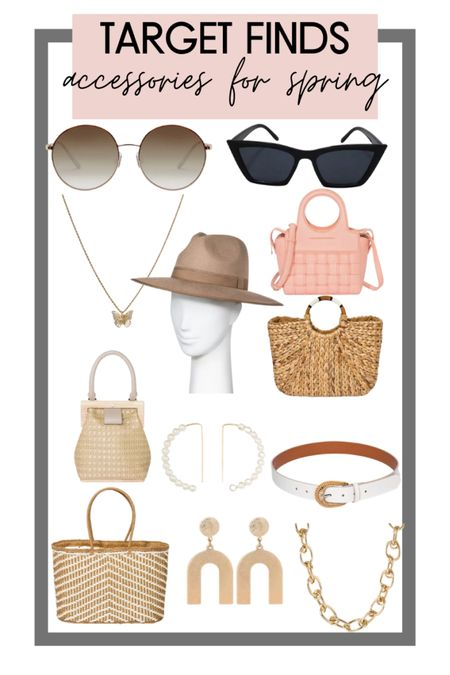 Target style finds for spring! Rounded up all of my favorite accessories from target for spring! So many cute purses, straw bags, beach bags, sunglasses, earrings and necklaces http://liketk.it/3aE05 #liketkit @liketoknow.it #LTKsalealert #LTKtravel #LTKswim