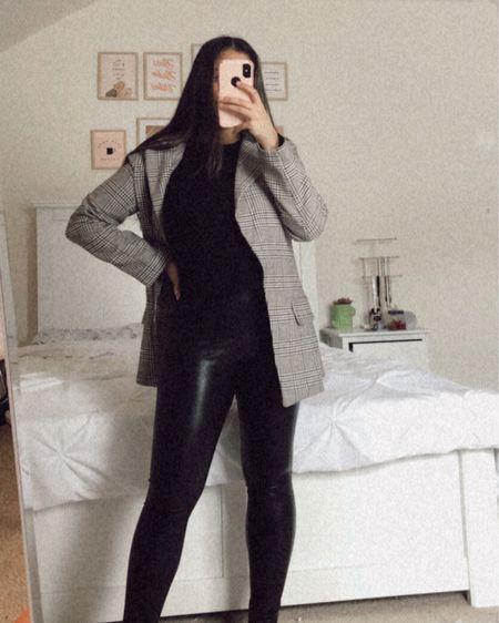 leather outfit look #LTKstyletip #LTKunder50 #liketkit @liketoknow.it http://liketk.it/3eXai