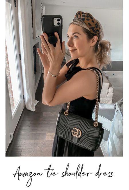 Black tie shoulder dress, headband, Amazon dress, Amazon fashion, Amazon finds, dress, nap dress, summer dress  #LTKunder50 #LTKshoecrush #LTKstyletip   http://liketk.it/3l8cQ @liketoknow.it #liketkit