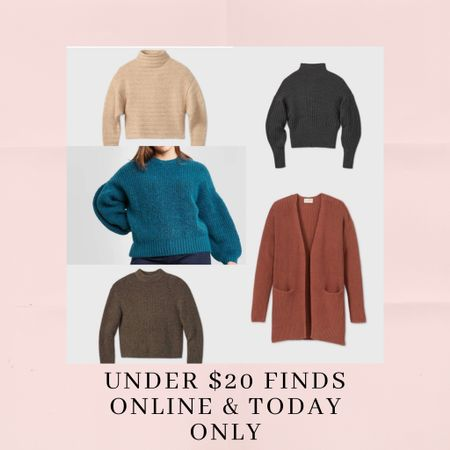 Cardigans and sweater under $20 today only!! Online sale at target 🥰 #liketkit http://liketk.it/330fH @liketoknow.it #LTKunder50 #LTKsalealert #LTKstyletip Shop your screenshot of this pic with the LIKEtoKNOW.it shopping app