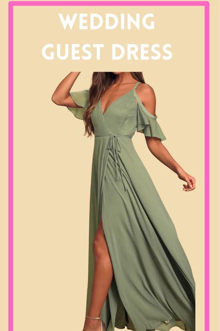 Green maxi dress, wedding guest dress, wedding guest attire, green wrap maxi dress  http://liketk.it/3k5qR @liketoknow.it #liketkit #LTKwedding