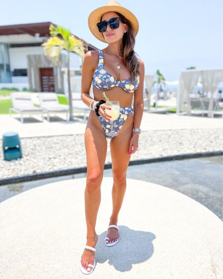 Lemon print bikini in Xs bottoms and m top sarong matching ON SALE http://liketk.it/3hqcB #liketkit @liketoknow.it #LTKDay #LTKswim #LTKunder100