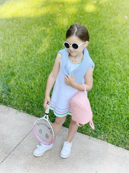 Day three of tennis camp- and this is by far Birdies favorite outfit.   #LTKkids #LTKfit