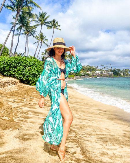 Beach cover up and two piece swim http://liketk.it/2M00F #liketkit #LTKspring #LTKunder50 #LTKswim @liketoknow.it