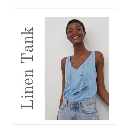 Who wouldn't love a linen tank for only $14.99? A v-neck tank top is a Summer outfit staple and linen makes it extra special. A double v-neck linen tank top in XXS thru XXL  #kimbentley #summerstyle.   #LTKSeasonal #LTKunder50