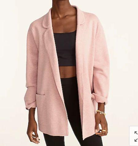 Blush sweater blazer   #LTKsalealert #LTKSeasonal #LTKHoliday