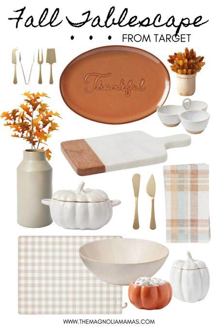 Thanksgiving Fall Tablescape inspo. Most items under $15!   #LTKHoliday #LTKhome #LTKSeasonal