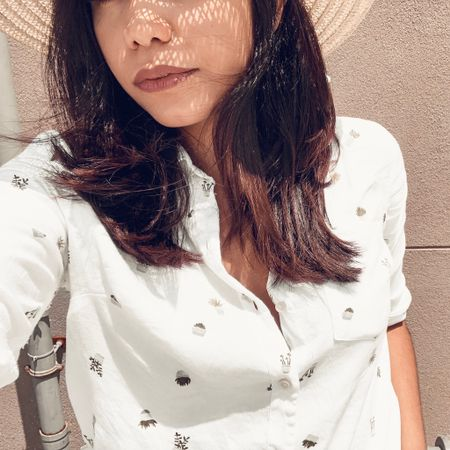 @oldnavy coming through with the pretty printed shirts. 🌿👒    http://liketk.it/2BGxJ #liketkit @liketoknow.it   Shop your screenshot of this pic with the LIKEtoKNOW.it app