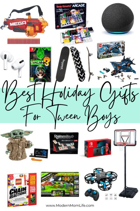 I've rounded up the best gifts for tween boys aged 8-10 years old! Check out all the picks over at ModernMomLife.com. Happy shopping! http://liketk.it/32o8p #liketkit @liketoknow.it #LTKkids #LTKfamily #LTKunder50