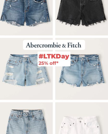 My favorite place for denim shorts! Abercrombie extra 20% off in app purchase only this weekend! http://liketk.it/3hq4s #liketkit @liketoknow.it #LTKDay #LTKunder50 #LTKunder100