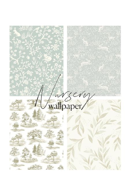 Nursery wallpaper ideas! Love these botanicals and whimsical ideas for a baby boy's room    #LTKhome #LTKbaby #LTKkids