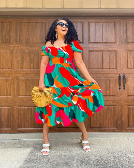I have a definite weakness for bright fabulous dresses and how could I pass this one up when it was under $15 . Such a fun flattering dress! You can shop my look in the link or follow me on Like to Know #fashion #fashionblogger #mystyle #summerdress #fashionover40 #browngirlblogger #styleblogger #curvyblogger #igstyle #fashionista #sheinsider #curlyhair #lookbook   #LTKunder50 #LTKcurves #LTKsalealert