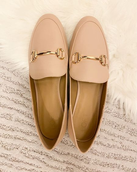 Blush pink loafers, loft shoes, loafers. #liketkit @liketoknow.it #LTKshoecrush #LTKsalealert http://liketk.it/3b2cY