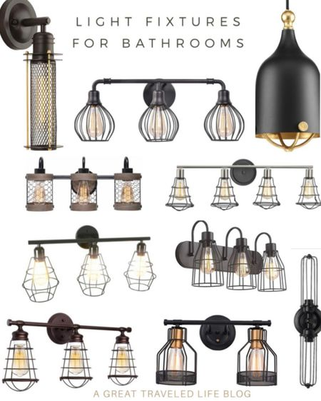Industrial light vanity light fixtures worked so great for our kids bathroom remodel. I love the industrial look and feel of these matte black vanity light fixtures.    http://liketk.it/38Rm1 #liketkit @liketoknow.it #LTKunder50 #LTKhome #LTKunder100 @liketoknow.it.brasil @liketoknow.it.europe @liketoknow.it.family @liketoknow.it.home Shop your screenshot of this pic with the LIKEtoKNOW.it shopping app