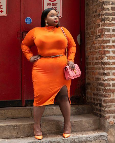 I don't do body cons that often, although I love a fitted skirt. I must say Rebdolls came through on this orange body con! http://liketk.it/3et7d #liketkit @liketoknow.it #LTKcurves #LTKunder50 #LTKsalealert