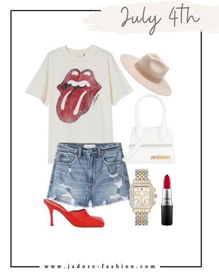 July 4th summer outfit idea   #LTKSeasonal #LTKunder100 #LTKstyletip