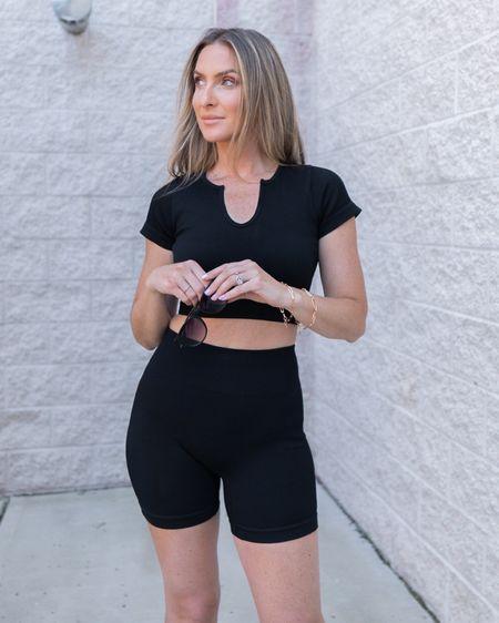 @liketoknow.it http://liketk.it/3j9zp  #liketkit #LTKunder50 #LTKshoecrush #LTKsalealert two piece set athleisure Amazon fashion white sneakers Amazon finds gold bracelet sunnies