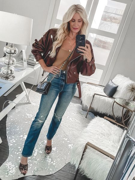 New favorite jeans 🤎 These Mother jeans are high waisted with the coolest distressing and they're crazy comfortable. They run tts, I'm wearing a size 24.   #LTKunder100 #LTKshoecrush #LTKstyletip