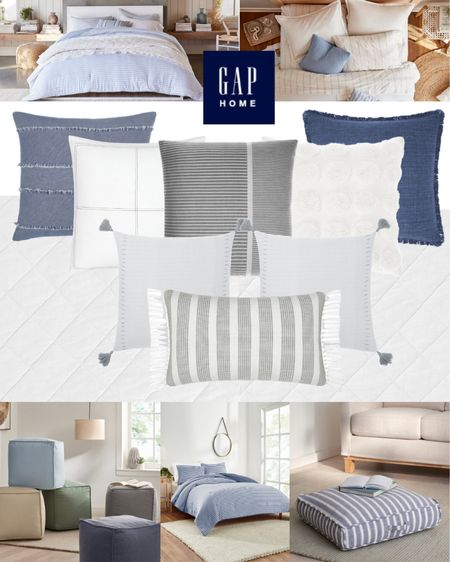 Gap Home sold only at Walmart has such cute toss pillows and classic bedding options! #ad #gaphome #walmarthome #LTKhome http://liketk.it/3in1O #liketkit @liketoknow.it #bedding #bedroomdecor #tosspillows #bedroommakeover #homedecor #blueandwhite
