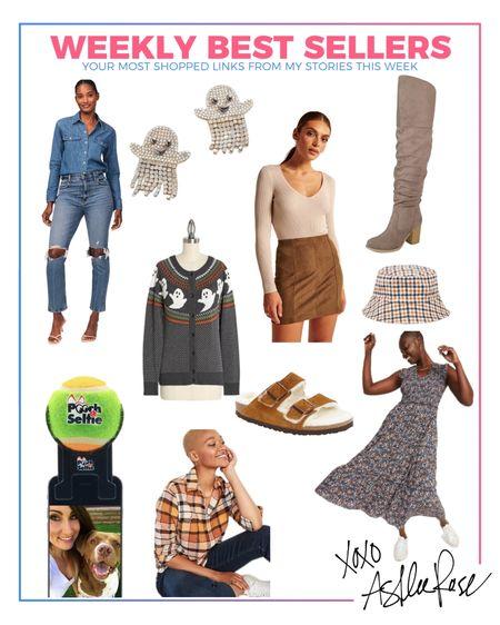 Weekly best sellers. Fall outfits. Halloween sweater. Ghost earrings.   #LTKshoecrush #LTKSeasonal #LTKunder50