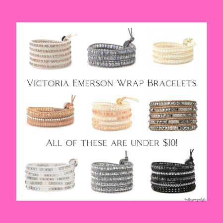 Found some Victoria Emerson wrap bracelets under $10! These aren't part of their bogo sale, but this deal is even better, especially if you want to snag some as stocking stuffers. These bracelets fit any wrist and are so pretty - can't recommend them enough! @liketoknow.it #liketkit #LTKgiftspo #LTKsalealert #LTKunder50 #victoriaemerson #wrapbracelets #blackfridaysale #cyberweek #giftidea #under$10 #giftguide #affordablejewelry http://liketk.it/32rxw