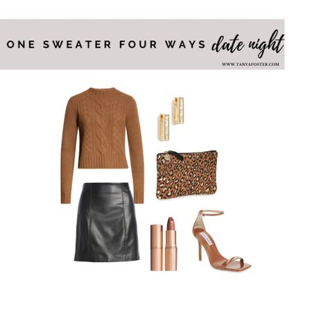 The perfect way to style a sweater for date night    #LTKstyletip #LTKSeasonal