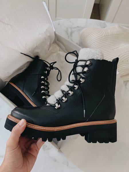 Marc Fisher Izzie Boot. Went up a half size. Run narrow and a bit stiff at first. Shaft is quite long, so I would wear these under my jeans/dresses/skirts      #LTKshoecrush