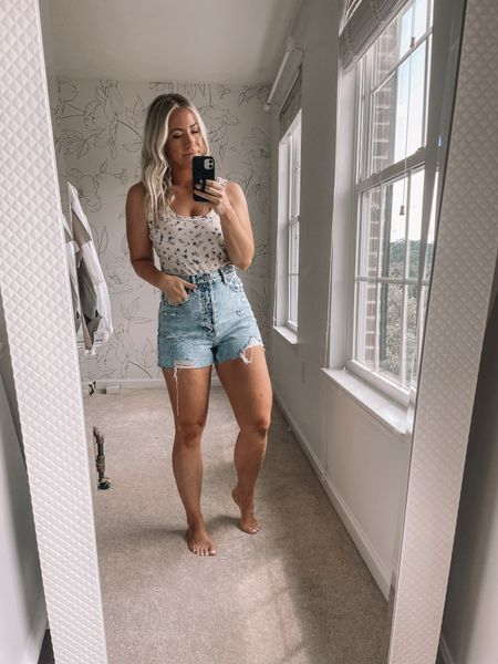 Love a good denim find! These jean shorts are less than $30 and so comfy! I took my regular size! Denim shorts, summer outfits, beach outfits   #LTKstyletip #LTKunder50 #LTKsalealert