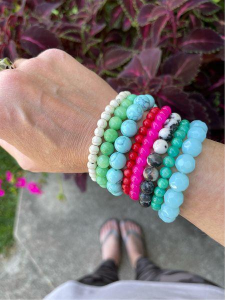 Linking up the supplies I used to make a whole pile of bracelets! So fun! #bracelets #braceletstack #armparty #makeityourself #maker  #LTKunder50