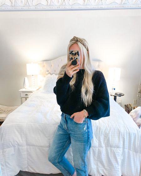 Black sweater, amazon find, amazon sweater, amazon fashion http://liketk.it/39Vh1 #liketkit @liketoknow.it #founditonamazon #LTKunder50 wearing size small