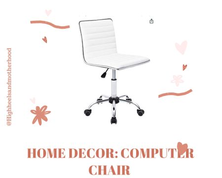 Home decor: check out this computer desk chair http://liketk.it/3h714 #liketkit @liketoknow.it Shop your screenshot of this pic with the LIKEtoKNOW.it shopping app @liketoknow.it.home