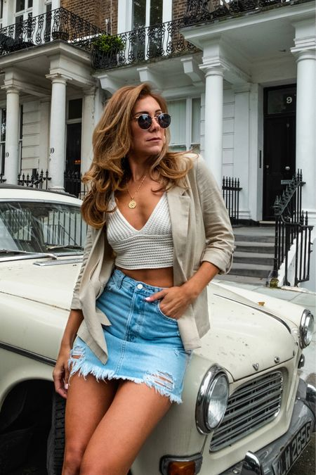 Blazer and skirt summer look http://liketk.it/2CjDc #liketkit @liketoknow.it