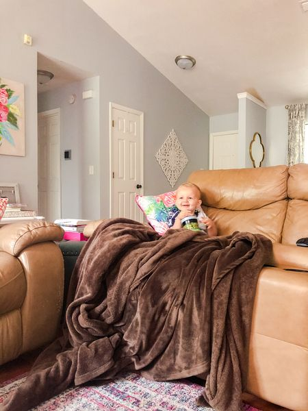 The best days are spent snuggled with a warm blanket watching Disney movies. 🥰   #LTKkids #LTKbaby #LTKhome