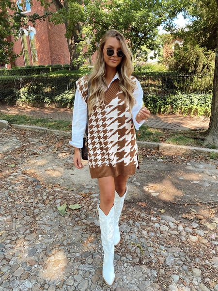 early fall transition style, street style, white cowboy boots, sweater vest, blogger style, autumn outfit, back to school, Labor Day, show me your Mimi, shop priceless, Lux unfiltered - Sivan ayla, fall trends, trendy, neutral style Ootd, fall fashion   #LTKstyletip #LTKbacktoschool #LTKSeasonal
