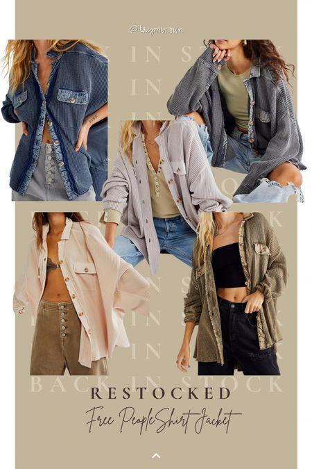Free people scout jacket, shirt jacket, shacket  #LTKstyletip #LTKbump #LTKSeasonal