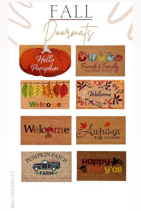 Fall Doormats🙌🏾🙌🏾  Fall doormats fall decor for fashion Etsy Walmart Michael's store bed bath and beyond fall outdoor lock fall entryway pumpkin autumn fall Decour fall design Entryway design front porch design  #LTKSeasonal #LTKhome #LTKstyletip