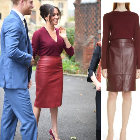Hugo boss Selrita skirt at Nordstrom just 3 sizes left! #burgundy #fall #skirt #midi #leather   #LTKstyletip #LTKeurope